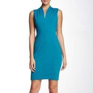 Tonya Sleeveless Dress (T Tahari, Ocean Depths)